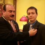 Alejandro Sanchez (Director of Digital Communications) being inducted as a Rotarian by the Madrid-Cibeles Rotary Club.